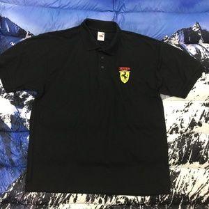 VTG Ferrari Fruit of the Loom S/S Polo Shirt Sz XL
